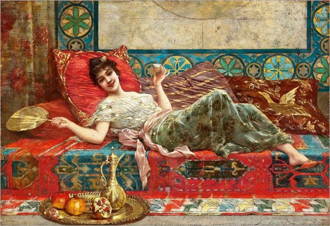refreshments-in-the-harem-Emile_Eisman-Semenowsky(1857-1911)