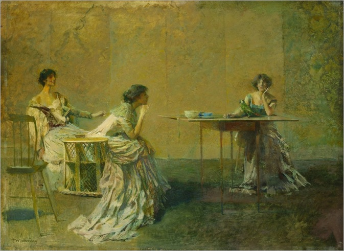 the-gossips-by-Thomas Wilmer Dewing-c.1907_800x583