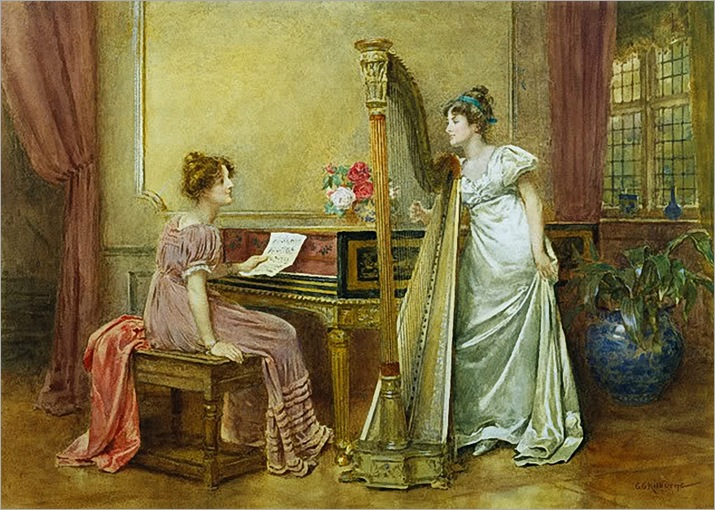 The Rehearsal-George G Kilburne