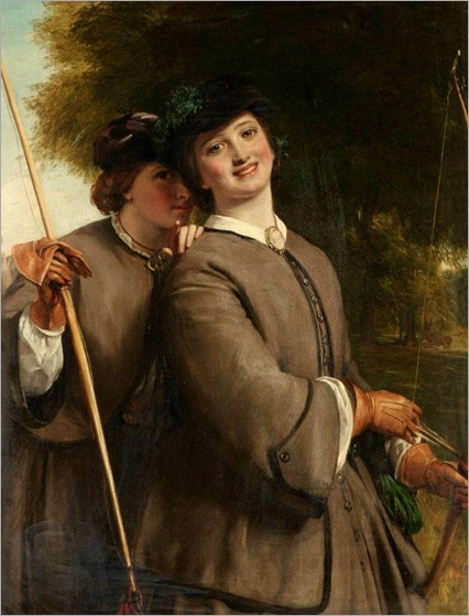 the-young-archers-by-John-Calcott-Horsley
