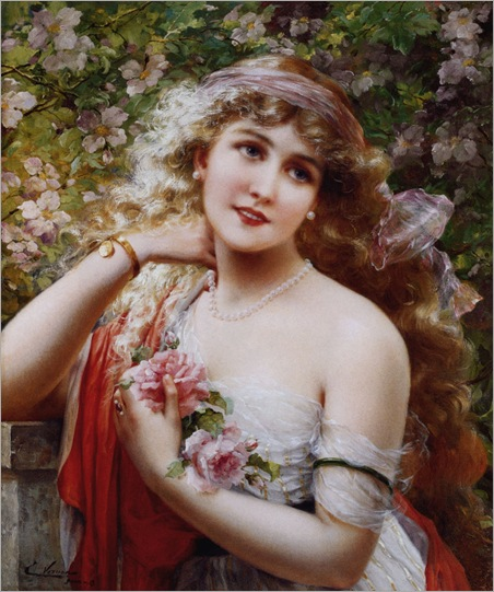 Vernon_Emile_Young_Lady_With_Roses