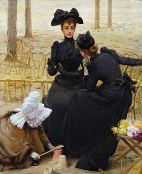 Vittorio Matteo Corcos - Entertainment at the Garden of Luxembourg