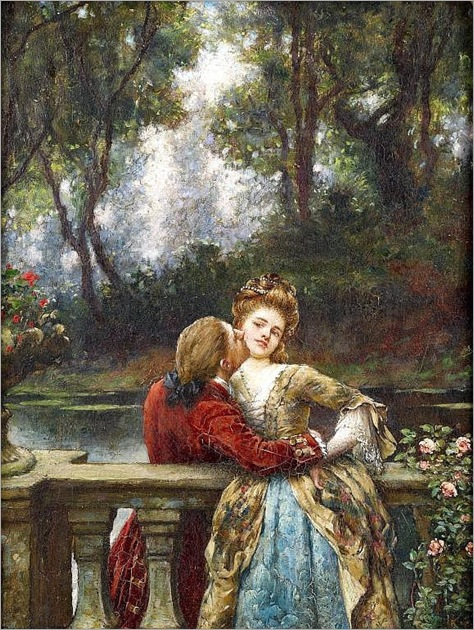 William Arthur Breakspeare (1855-1914) - The first kiss