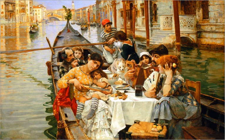 a venetian al fresco1885-william-logsdail