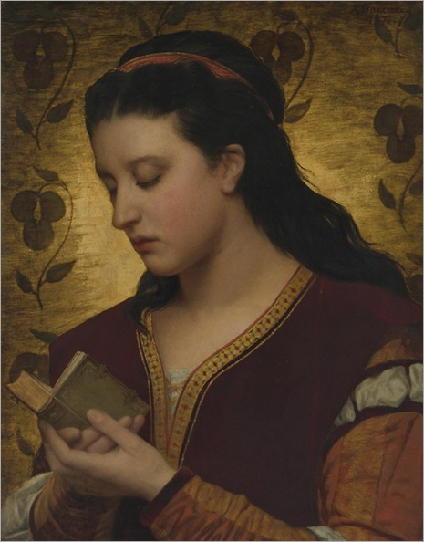 Attilio Baccani, Lady reading a book, 1876