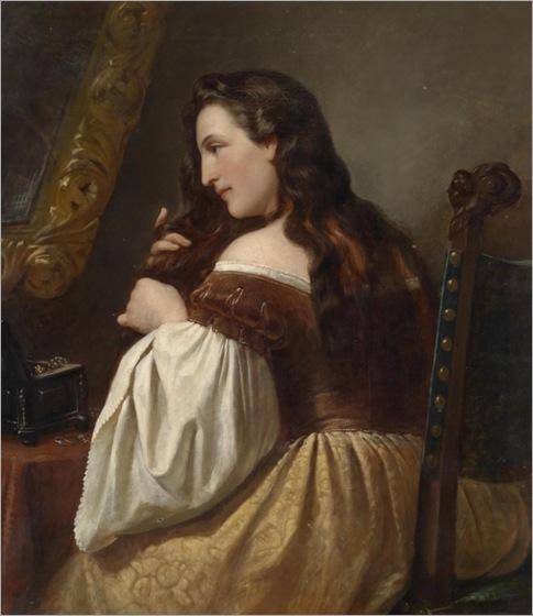 Carl-Adolf-Gugel-(Bergrabern 1820-1885 Munich) At her Toilette_600x694