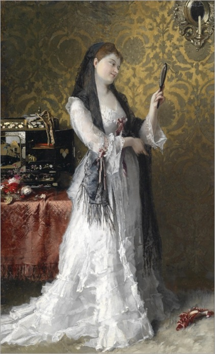 Conrad Kiesel (Düsseldorf 1846–1921 Berlin) Lady in the Boudoir_484x800