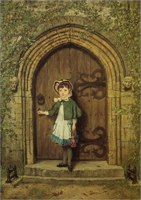 Edgar Bundy (British, 1862-1922)-The Sexton's daughter_564x800