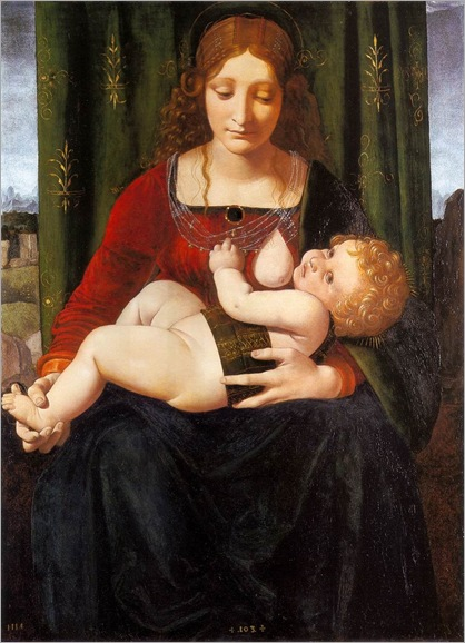 Giovanni Antonio Boltraffio - circa 1493-1499-virgin and child
