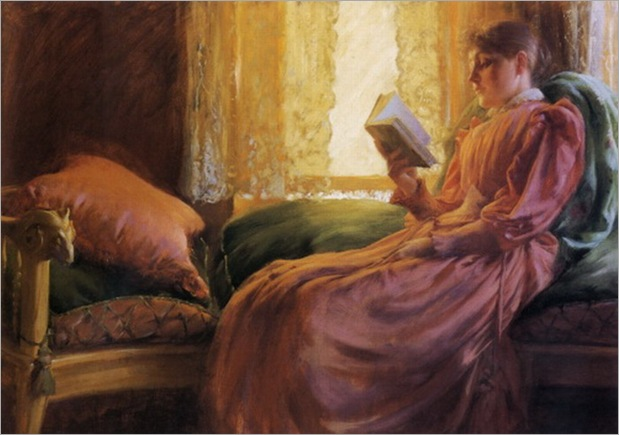 girl-reading-Charles-Courtney-Curran