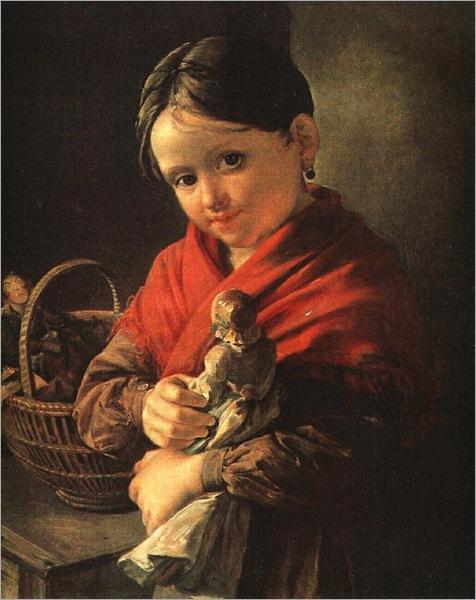girl with aa doll-Vasily Tropinin - 1841