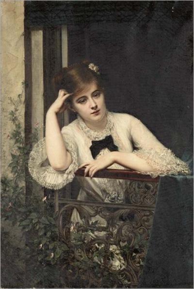 jeune_fille_pensive_sur_un_balcon_-_jules_emile_saintin
