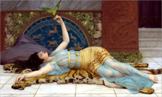 John William Godward (British, 1861-1922), Dolce Far Niente