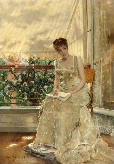 LA FEMME ET L'AMOUR (L'AMOUR QUI VIENT)-by-Alfred-Stevens