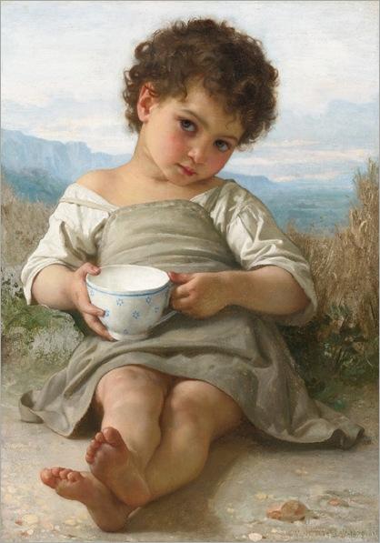 La tasse de lait (1879)-Bouguereau