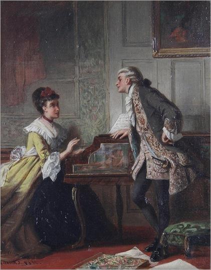 Laslett John Pott (1837-1898) - The music lesson