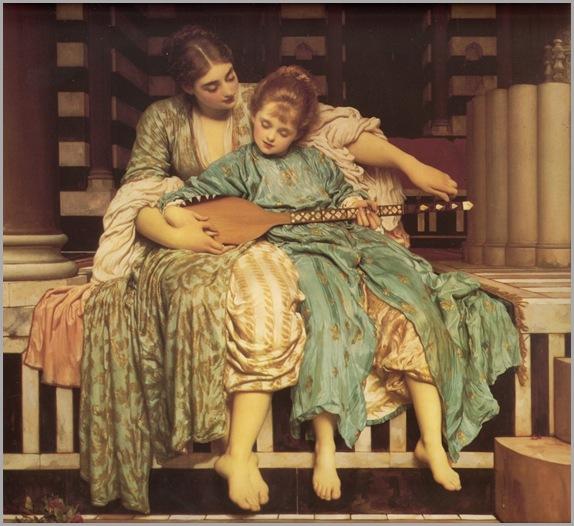 Lord_Frederick_Leighton_(1877)_Music_Lesson
