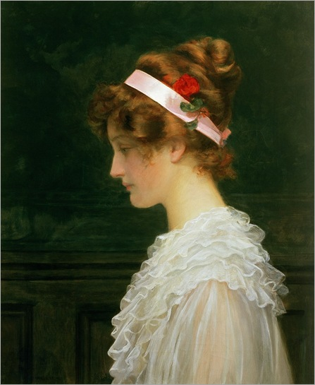 marcus stone- profile of a young girl