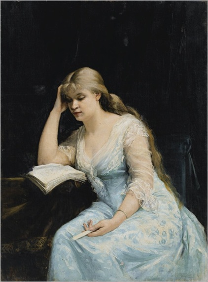 Marie Bashkirtseff_PORTRAIT OF A YOUNG WOMAN READING