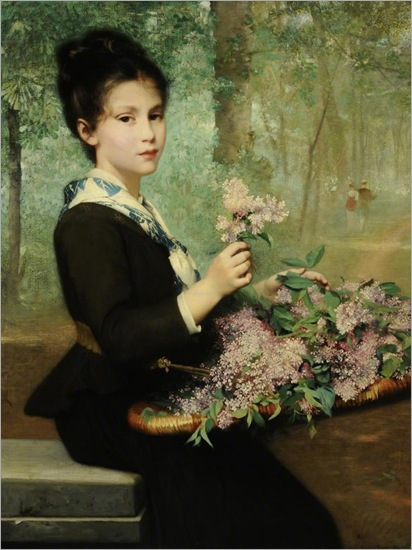 The first lilac, 1880-1885-Émile Levy