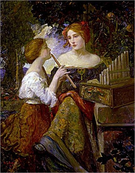 The Lesson (1907). Hugo Ballin (1879-1956)