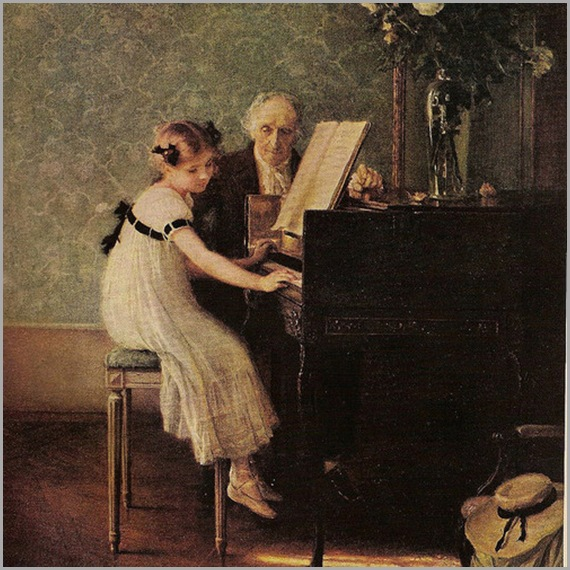 The music lesson by Jules Alexis Muenier (1863-1942)