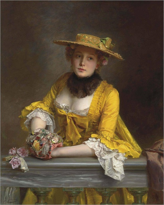 The Yellow Dress - Gustave Jean Jacquet