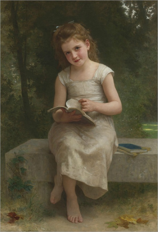William-Adolphe Bouguereau _The Reader_1895