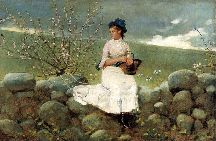 WinslowHomer_peach_blossoms