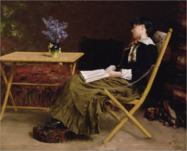 woman reading by Erik Theodor Werenskiold