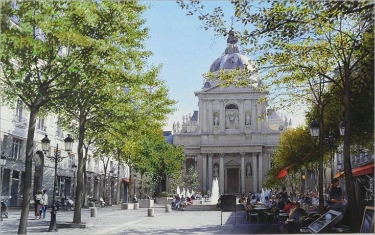 06-La place de la Sorbonne-Thierry Duval