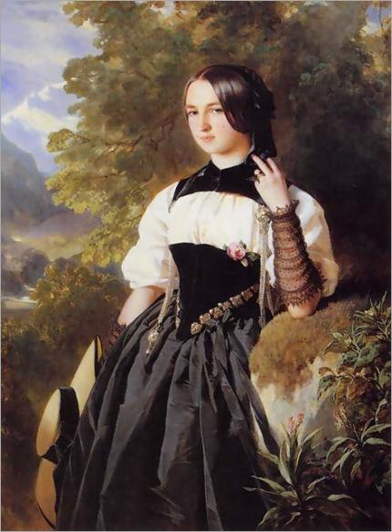 A Swiss Girl from Interlaken - Franz Xaver Winterhalter