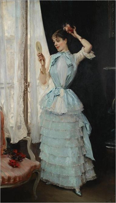 Aline at Her Toilette Raimundo de Madrazo y Garreta ca. 1878