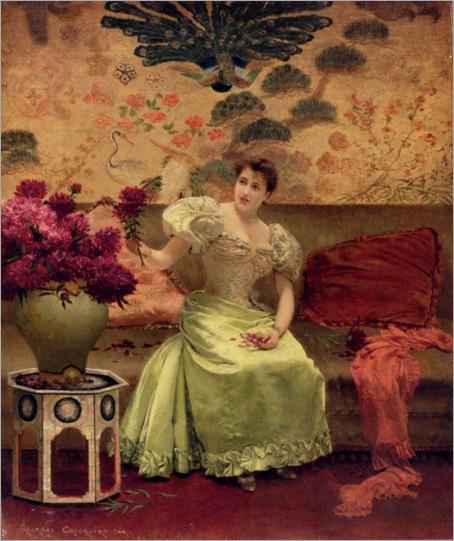an_elegant_arrangement-Georges-Croegaert-1848-1923