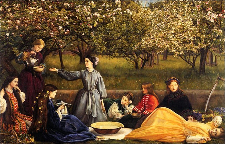 Apple Blossoms-John-E-Millais