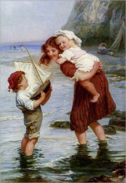 """At Scarborough"""" by Frederick Morgan (1856-1927)"""
