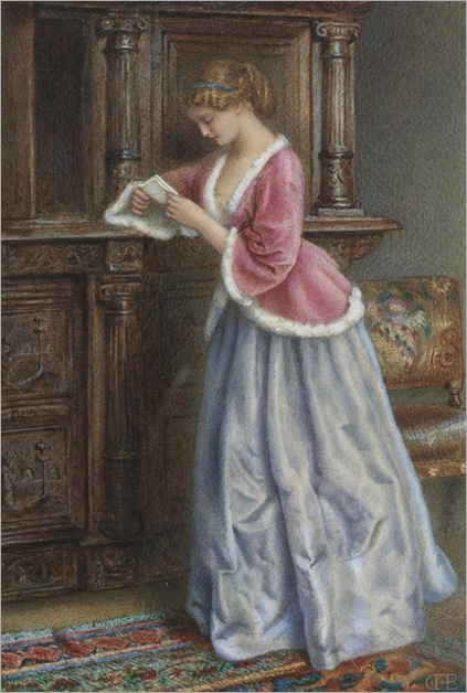Charles F Buckley(1841-1869) The love letter_538x800