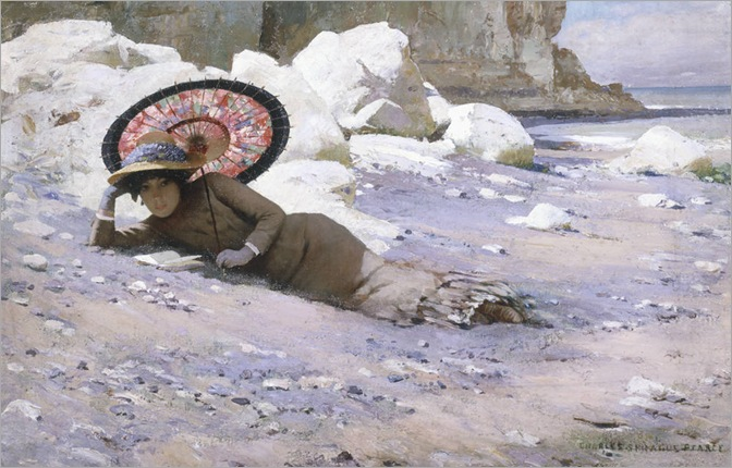 Charles Sprague Pearce - Reading by the Shore