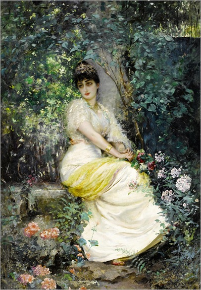 Edouard Frederic Wilhelm Richter_in the garden