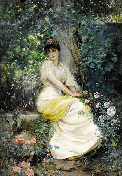 Edouard Frederic Wilhelm Richter_in the garden