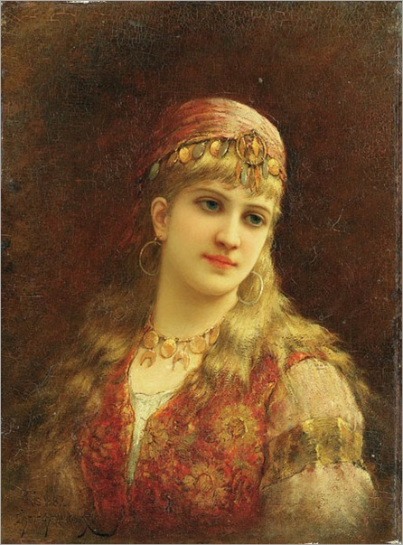 Emile-Eisman-Semenowsky_Harem-beauty-2