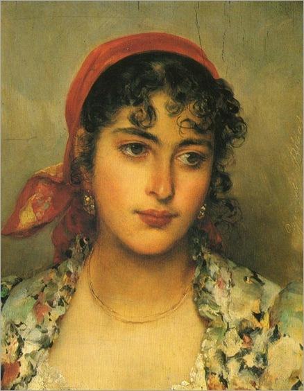 Eugene de Blaas (austrian-italian-1843-1932)_the gipsy girl_600x773