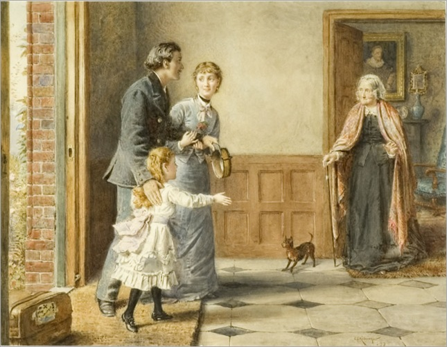 George Goodwin Kilburne - Visit to Grandmother