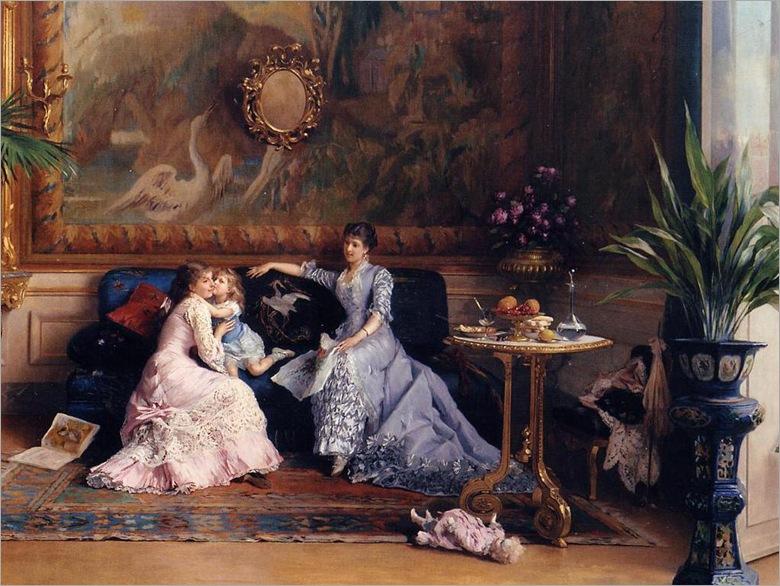 Gustave_Leonard_de_Jonghe___The_afternoon_visit