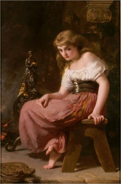 Henry Lejeune, R.A., (british)1820-1904, Cinderella_525x800