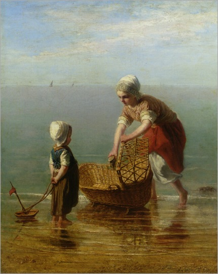 Israels_Jozef_(1824-1911) Mother_and_Child_By_the_Sea