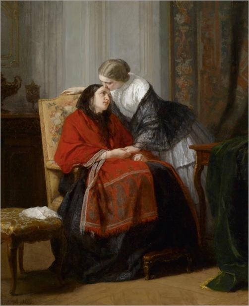 JEAN BAPTISTE JULES TRAYER (Paris 1824–1908) The Visit_600x737