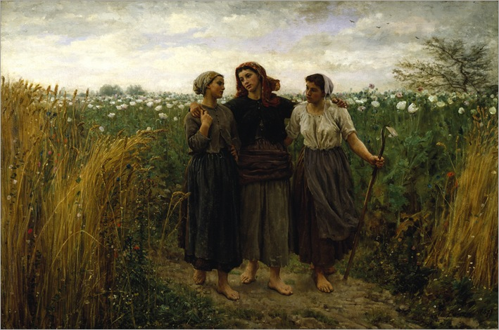 Jules Adolphe Breton - Returning from the Fields-1871