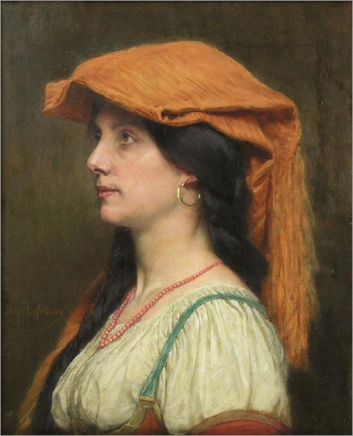 Jules Joseph Lefebvre - Portrait de Jeune fille