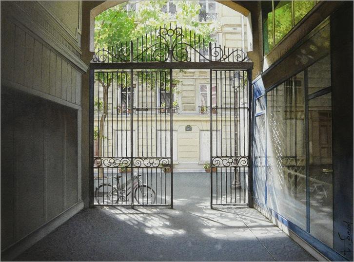 Le portail et le vélo-Thierry Duval